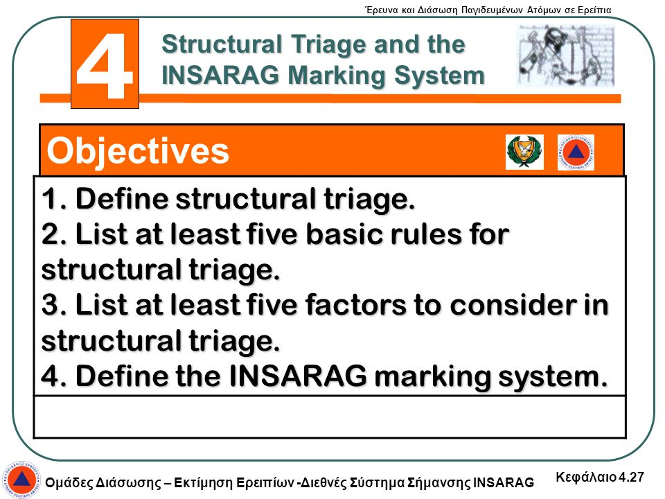 4 Objectives 1. Define structural triage.