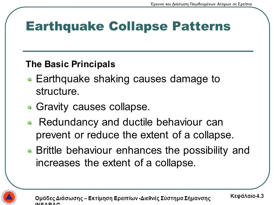 Earthquake Collapse Patterns