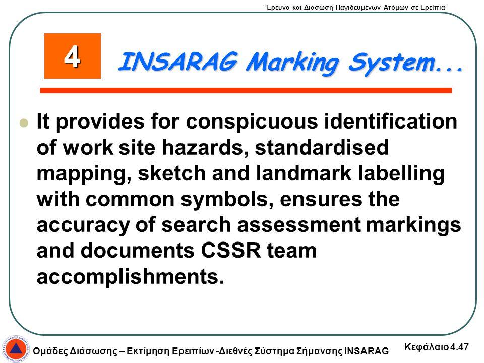 4 INSARAG Marking System...