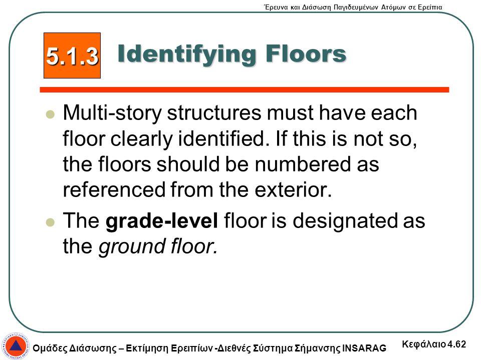 5.1.3 Identifying Floors.