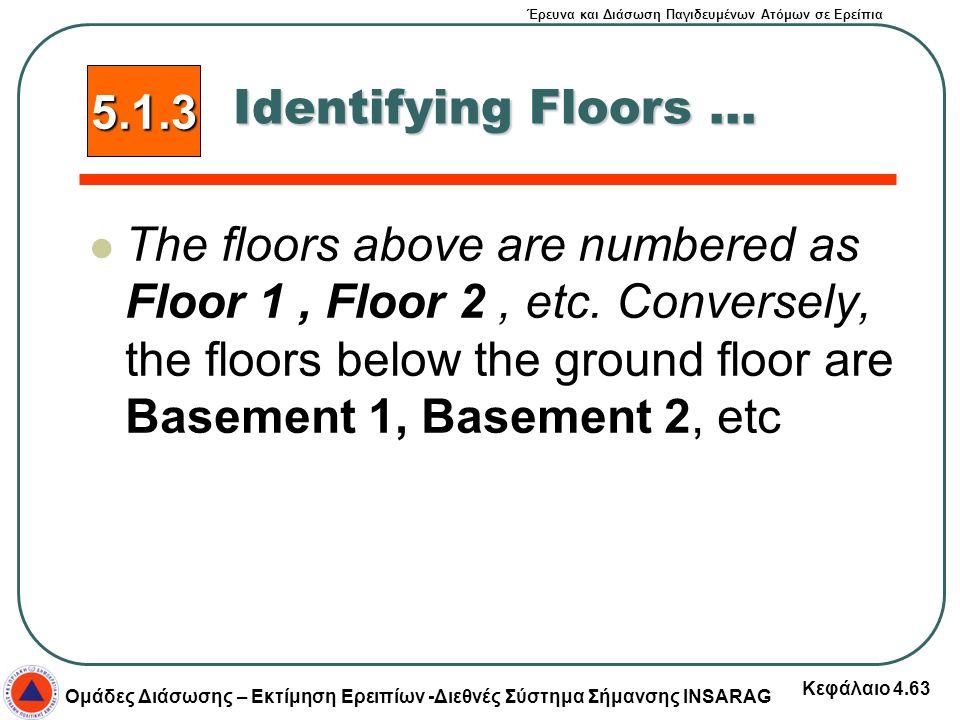 5.1.3 Identifying Floors ...