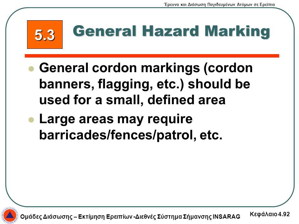 General Hazard Marking