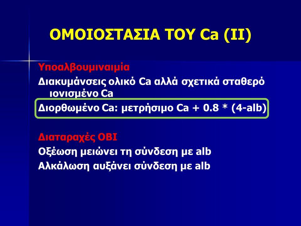 ΟΜΟΙΟΣΤΑΣΙΑ ΤΟΥ Ca (II)