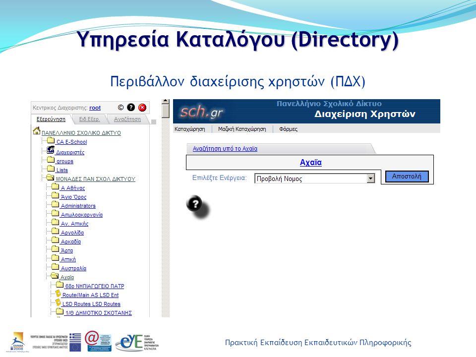 Υπηρεσία Καταλόγου (Directory)