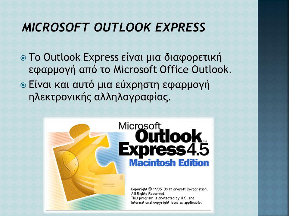MICROSOFT OUTLOOK EXPRESS