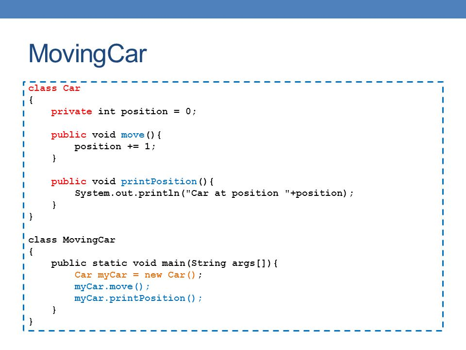 MovingCar