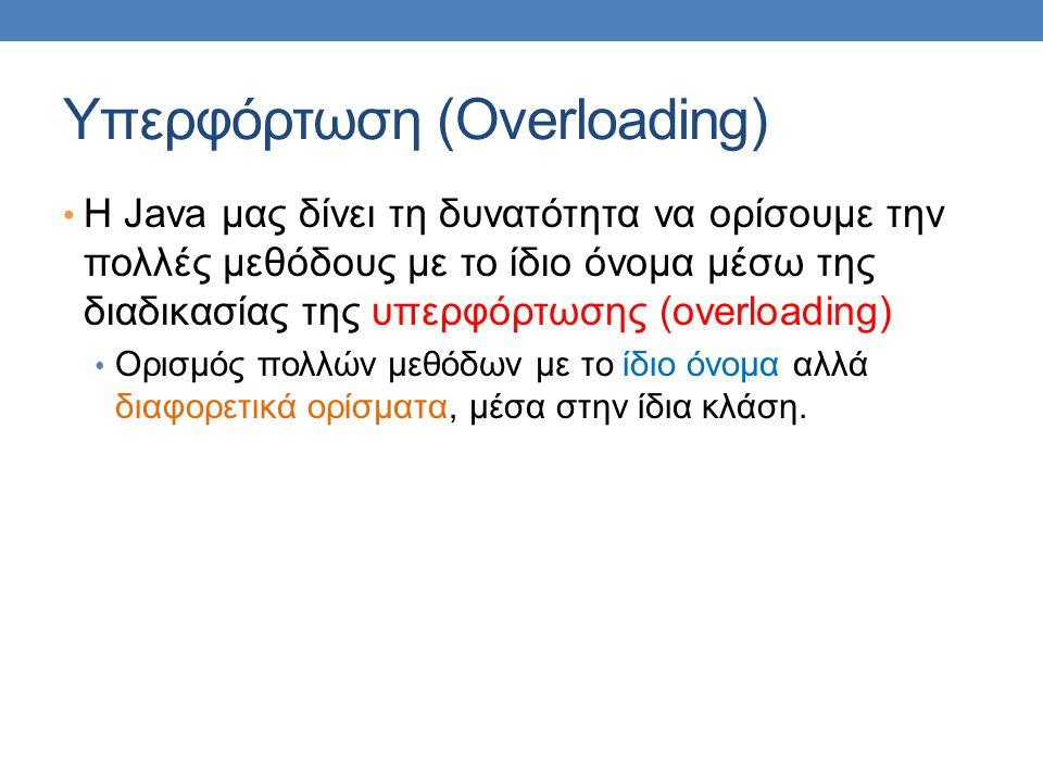 Υπερφόρτωση (Overloading)