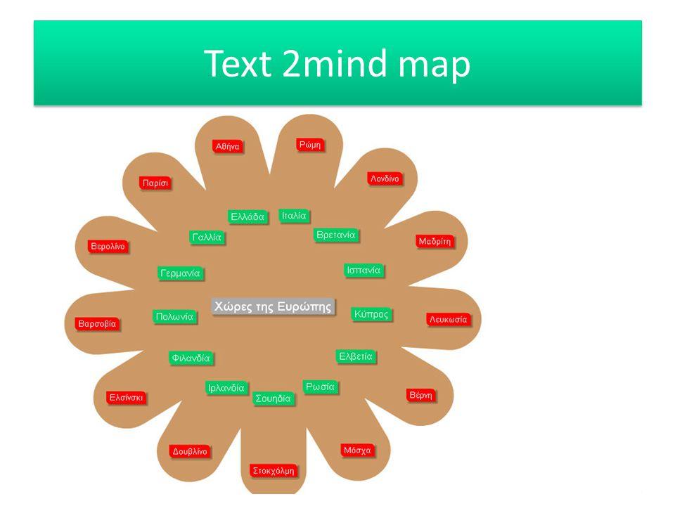 Text 2mind map