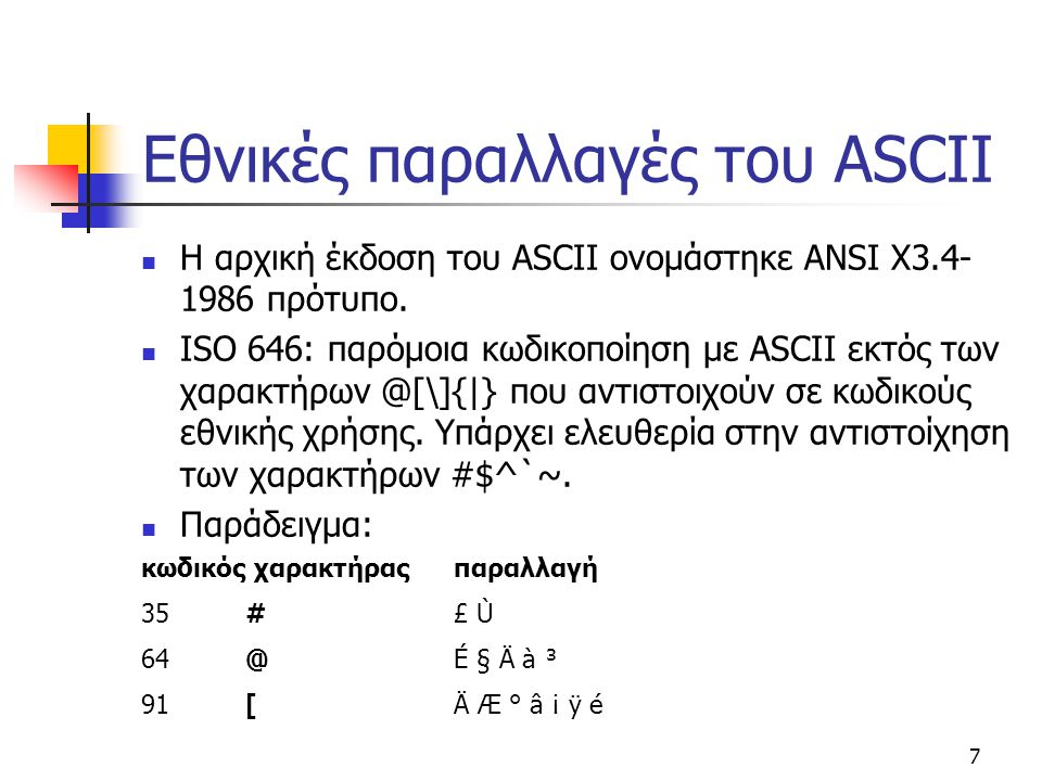 Εθνικές παραλλαγές του ASCII
