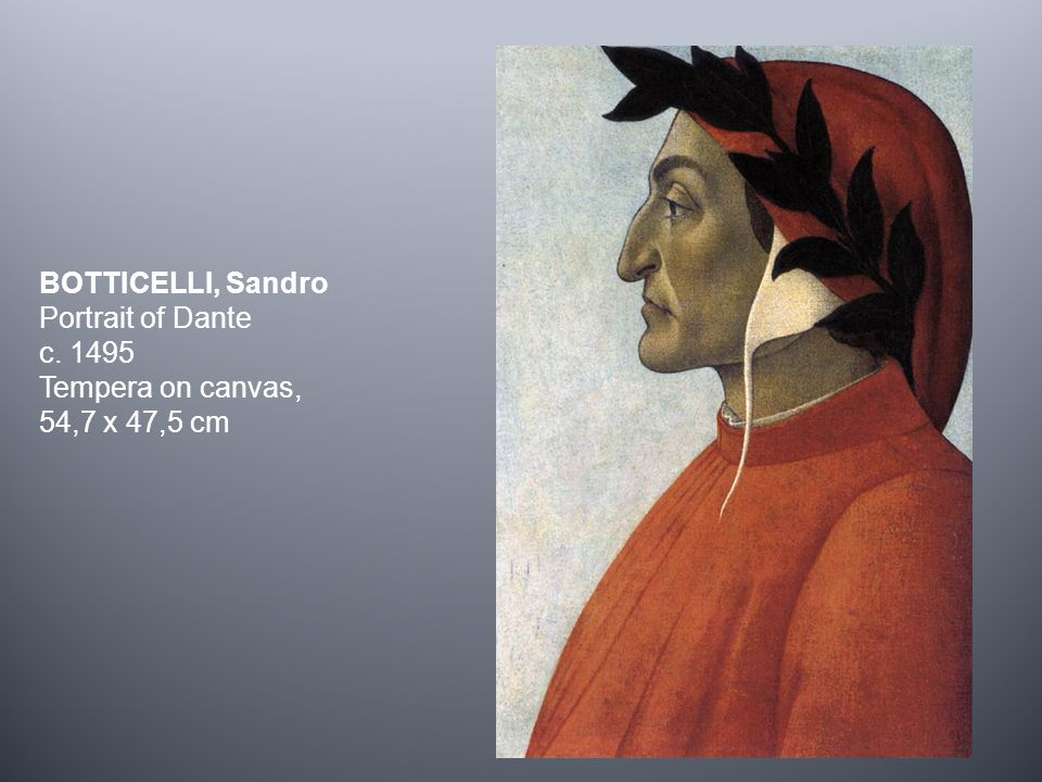 BOTTICELLI, Sandro Portrait of Dante c