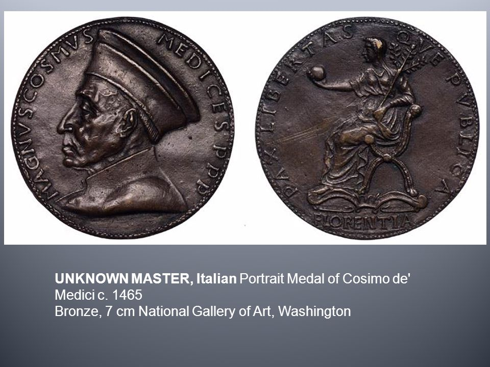 UNKNOWN MASTER, Italian Portrait Medal of Cosimo de Medici c