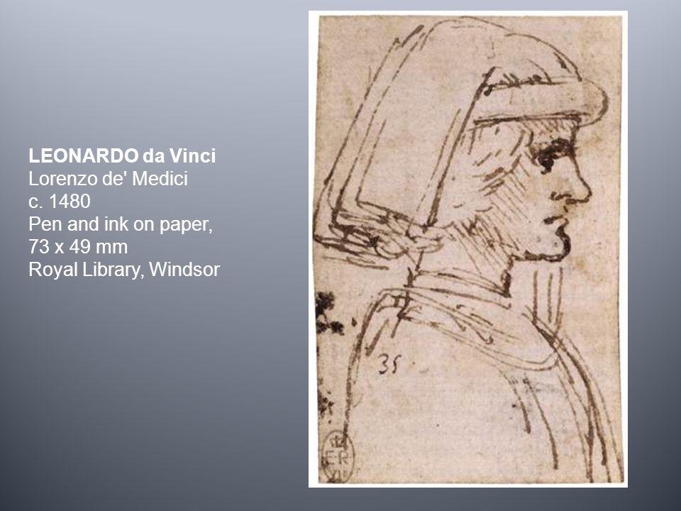 LEONARDO da Vinci Lorenzo de Medici c