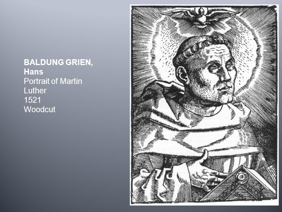 BALDUNG GRIEN, Hans Portrait of Martin Luther 1521 Woodcut