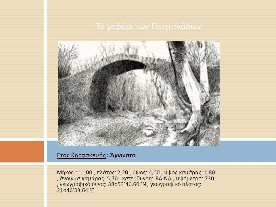 Το γεφύρι των Γοργιανάδων