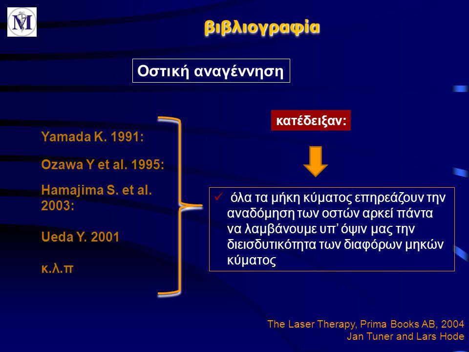 βιβλιογραφία Οστική αναγέννηση κατέδειξαν: Yamada K. 1991: