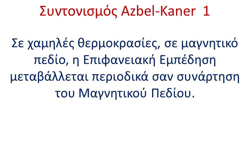 Συντονισμός Azbel-Kaner 1