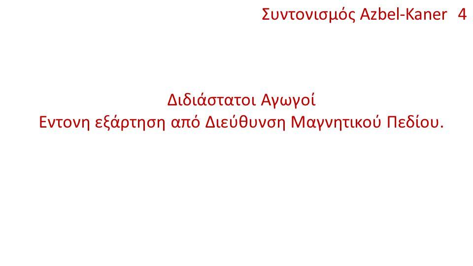 Συντονισμός Azbel-Kaner 4