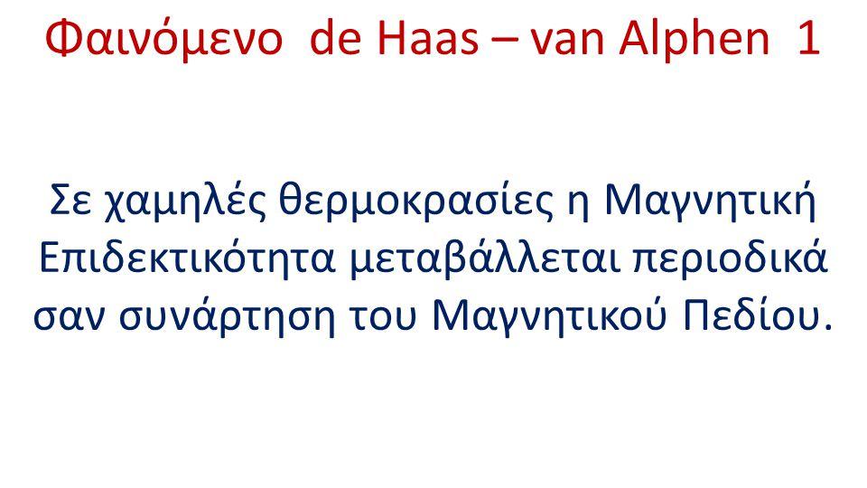 Φαινόμενο de Haas – van Alphen 1