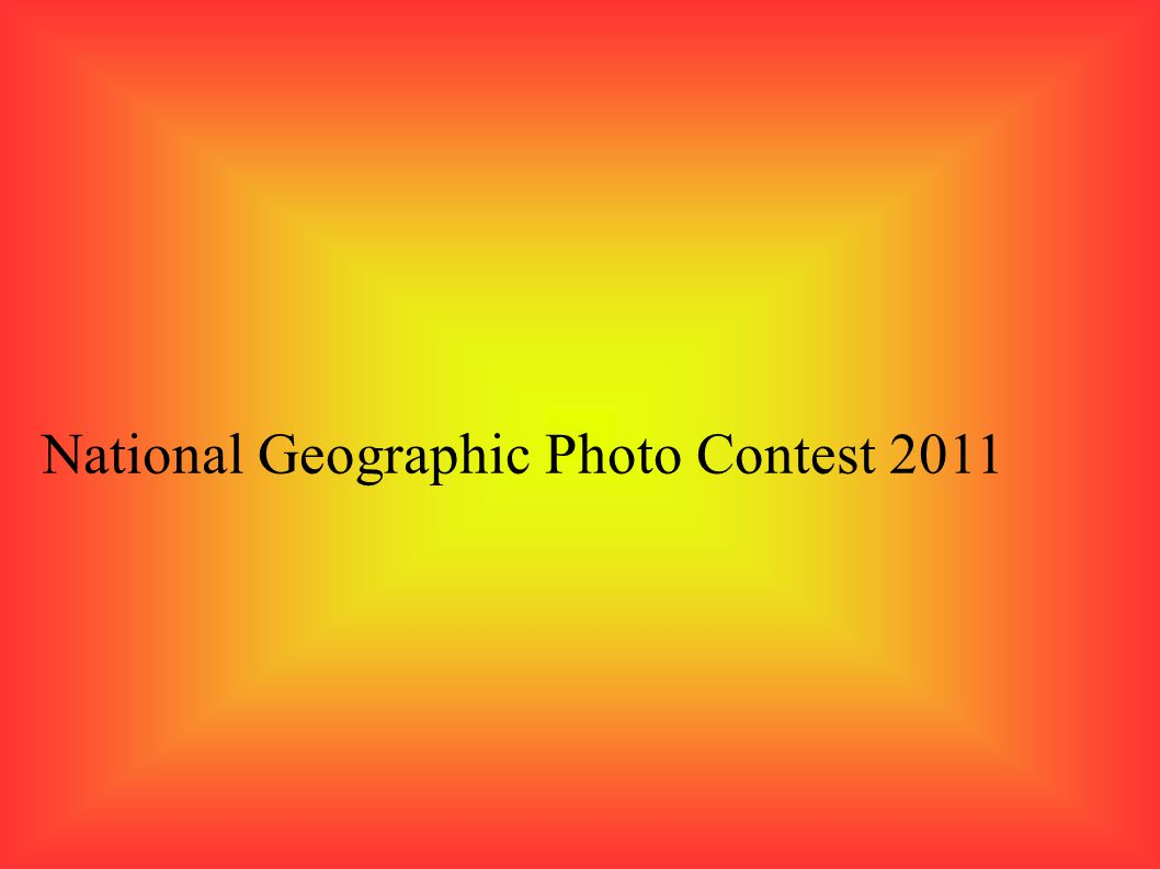 National Geographic Photo Contest 2011