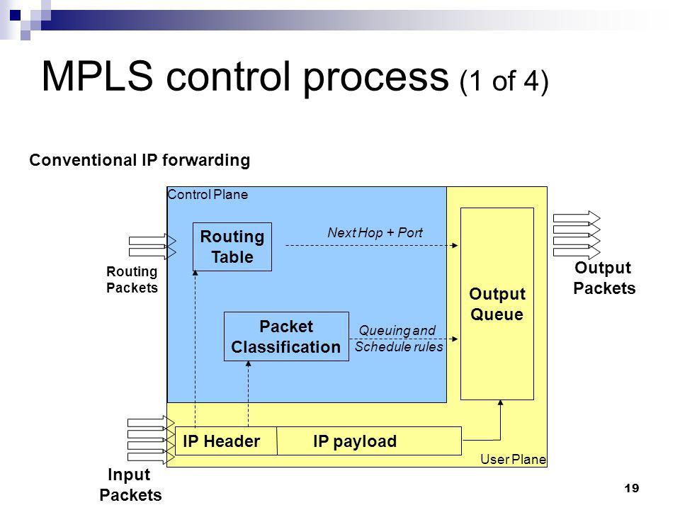 MPLS control process (1 of 4)