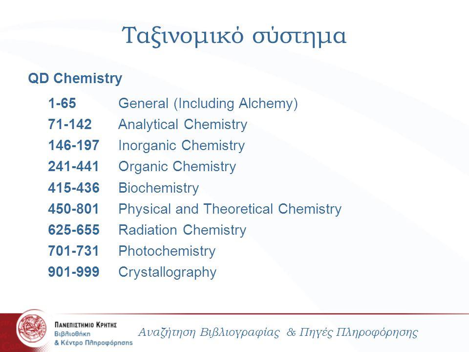Ταξινομικό σύστημα 1-65 General (Including Alchemy)