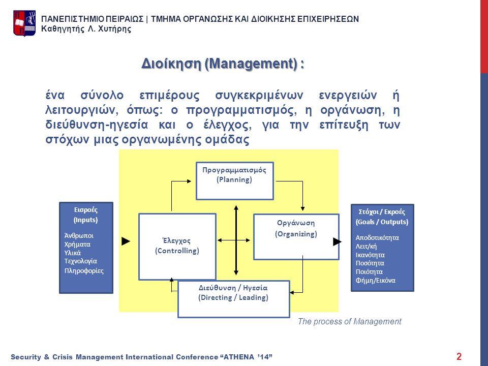 Διοίκηση (Management) :
