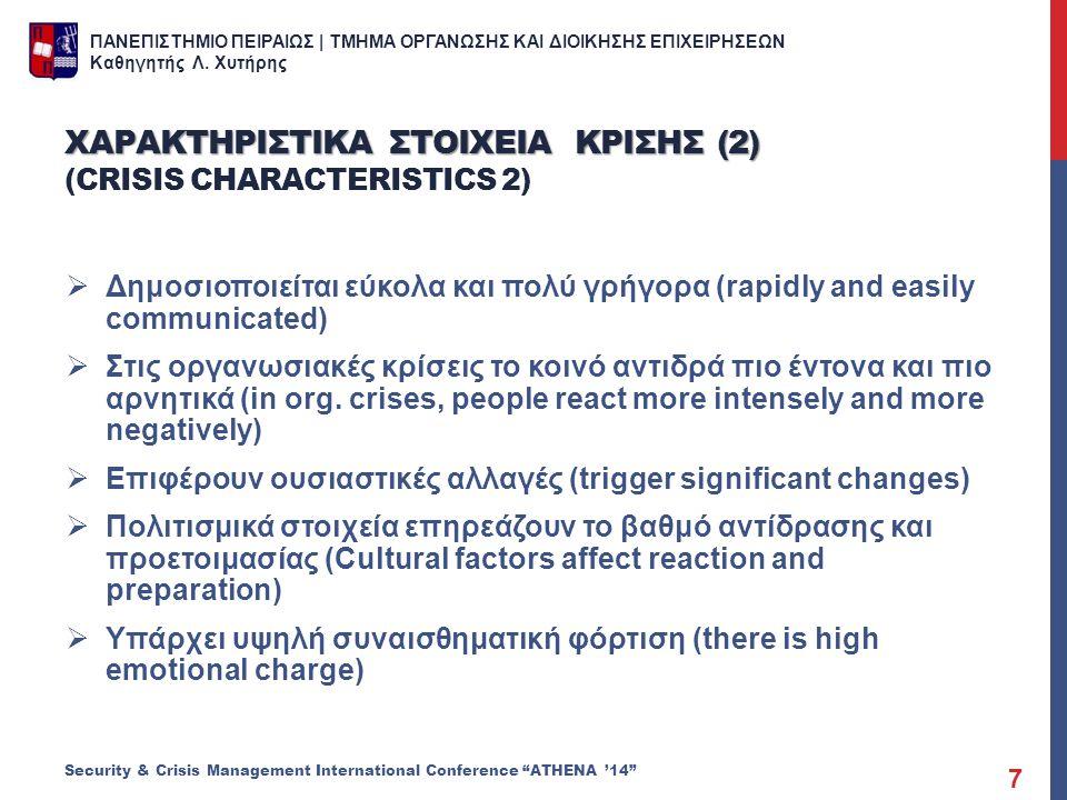 Χαρακτηριςτικα ςτοιχεια κριςης (2) (Crisis characteristics 2)