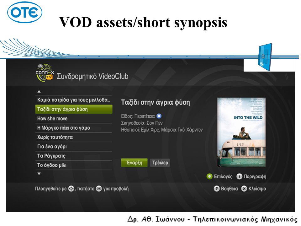 VOD assets/short synopsis
