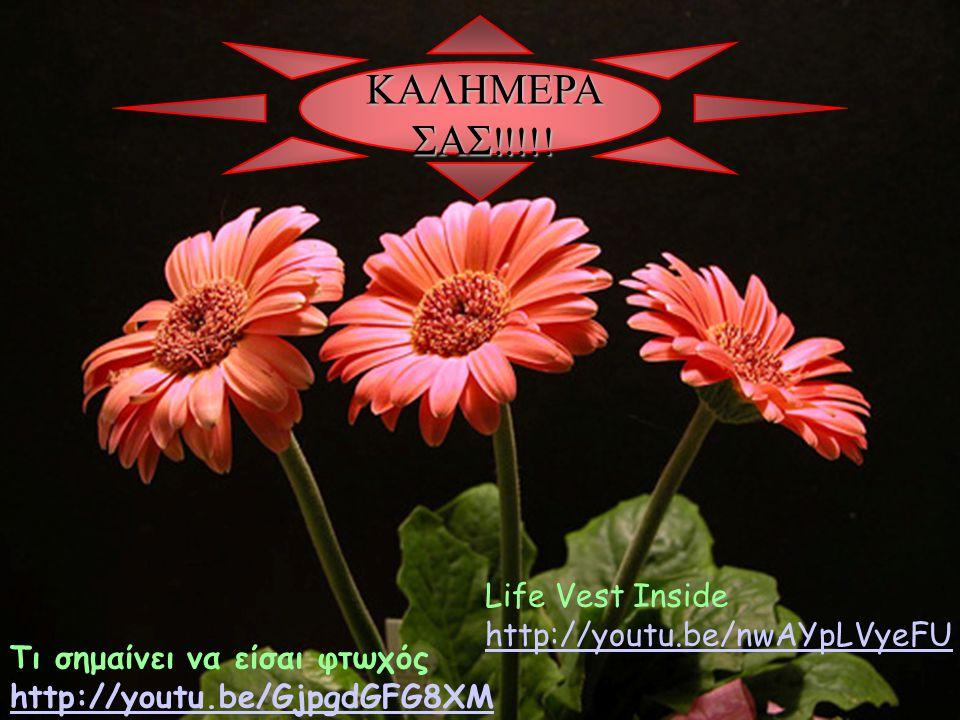 ΚΑΛΗΜΕΡΑ ΣΑΣ!!!!! Life Vest Inside http://youtu.be/nwAYpLVyeFU