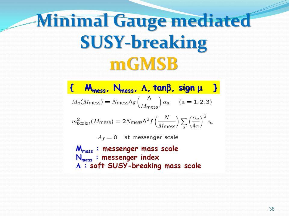 Minimal Gauge mediated SUSY-breaking mGMSB