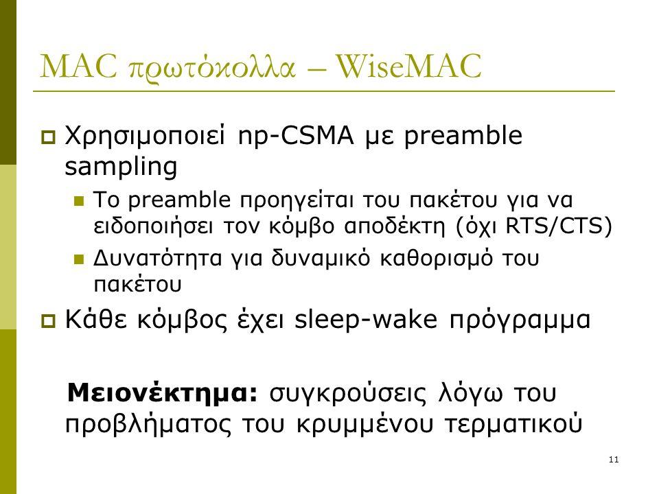 MAC πρωτόκολλα – WiseMAC