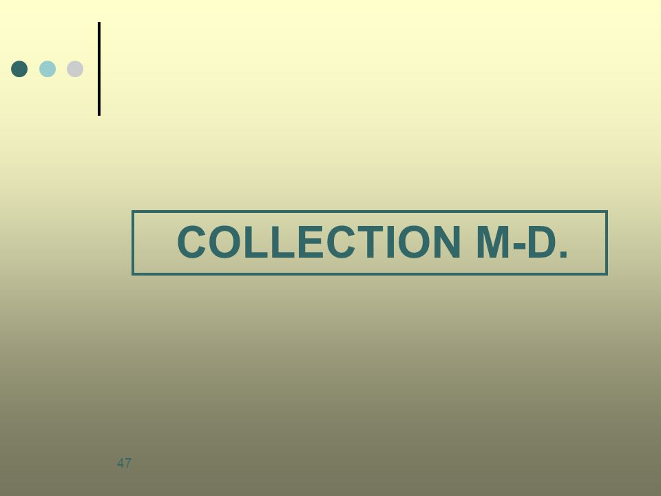 COLLECTION M-D.