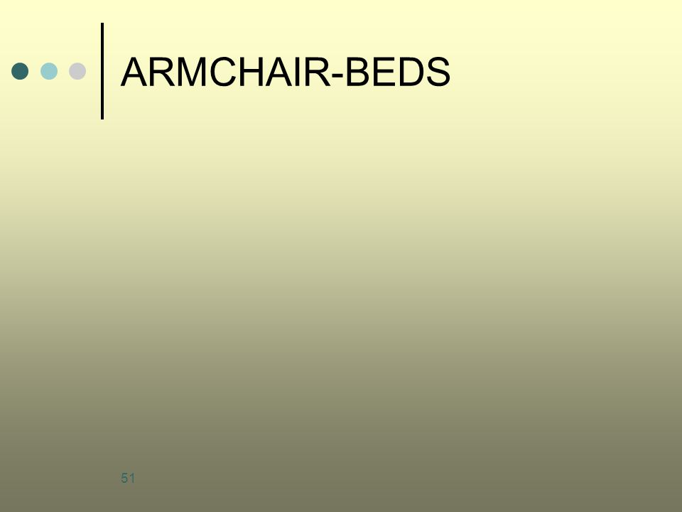 ARMCHAIR-BEDS