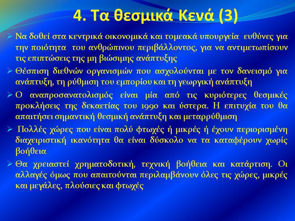 4. Τα θεσμικά Κενά (3)