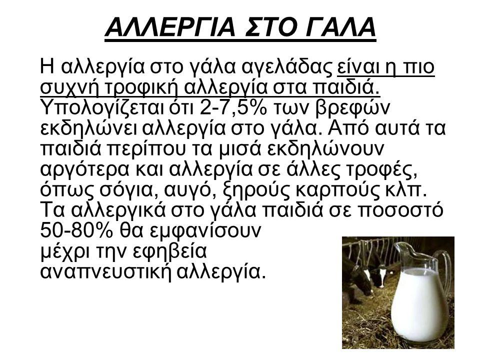 ΑΛΛΕΡΓΙΑ ΣΤΟ ΓΑΛΑ
