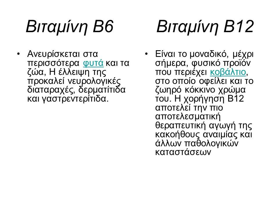 Βιταμίνη Β6 Βιταμίνη Β12