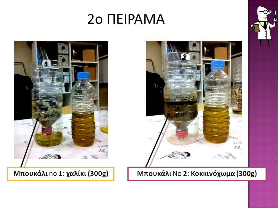 2ο ΠΕΙΡΑΜΑ Μπουκάλι no 1: χαλίκι (300g)