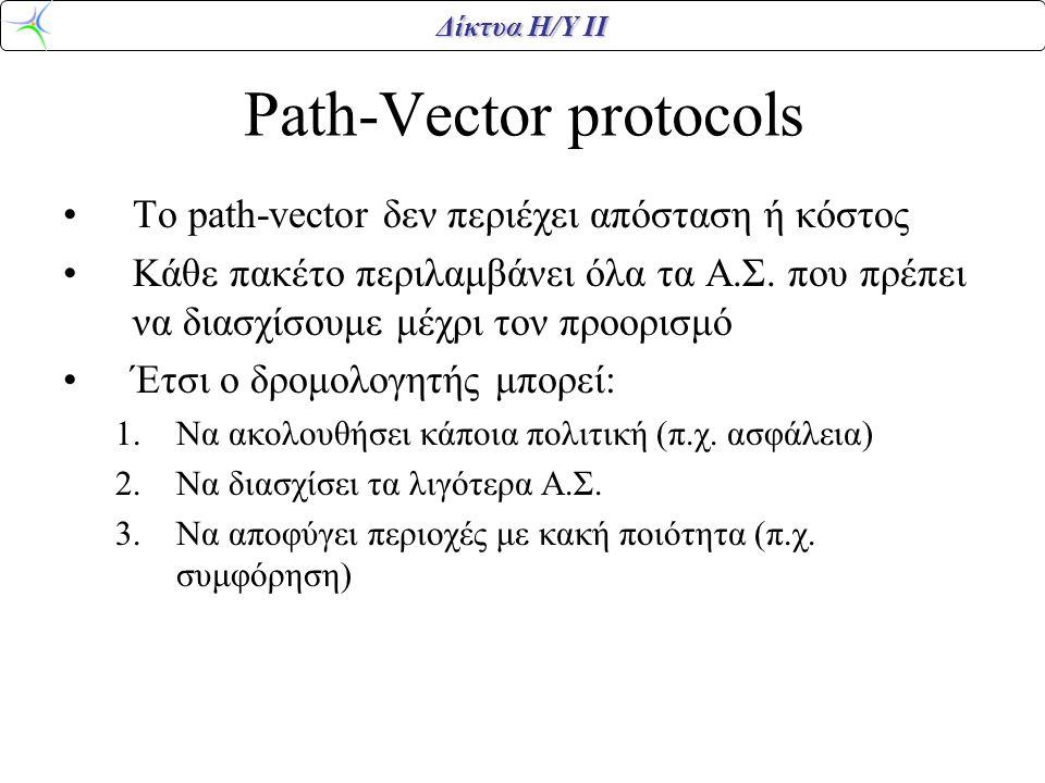 Path-Vector protocols