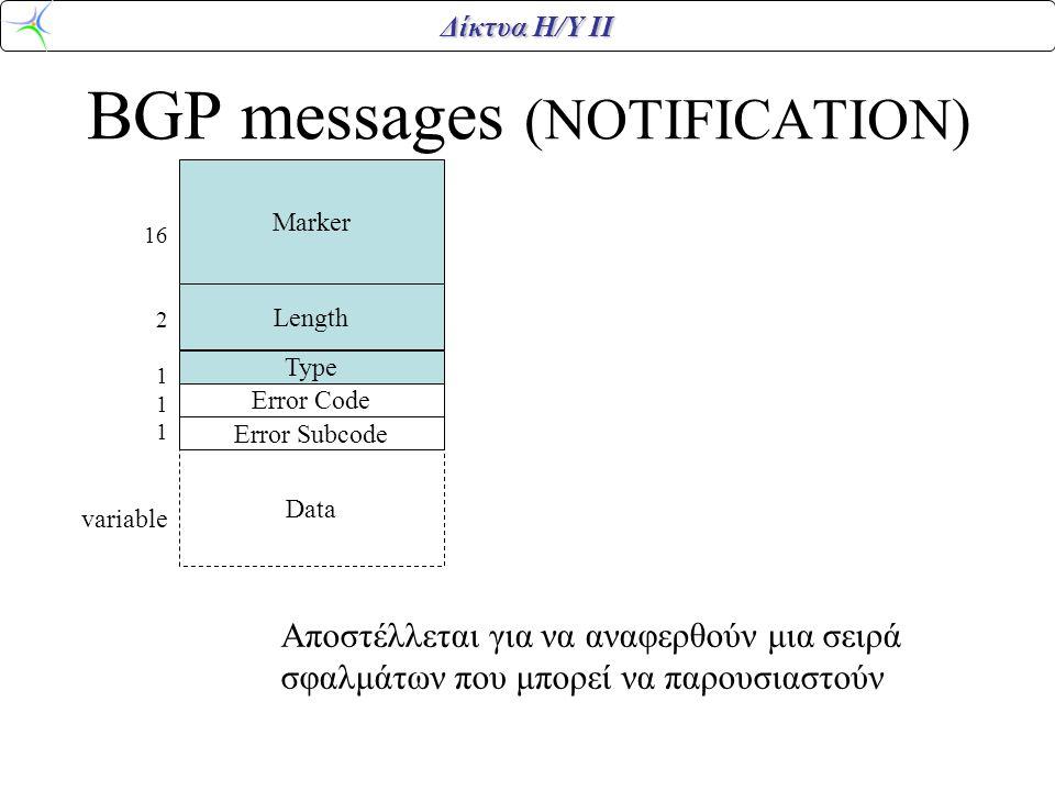 BGP messages (NOTIFICATION)