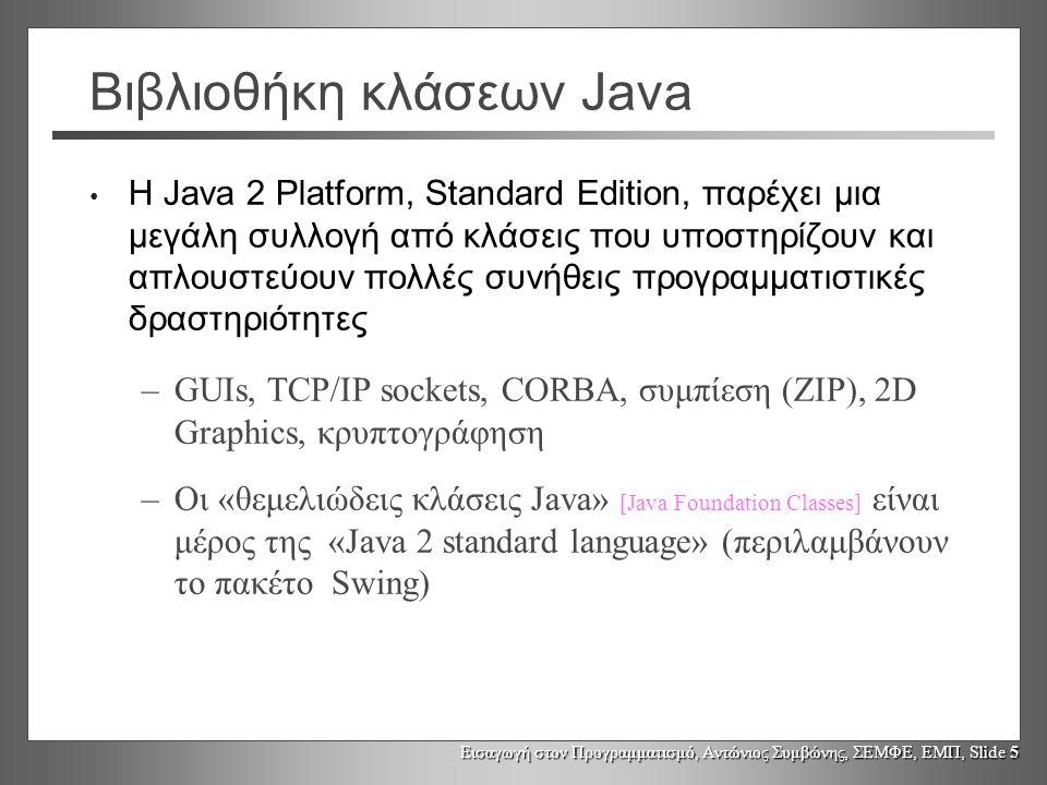 Βιβλιοθήκη κλάσεων Java