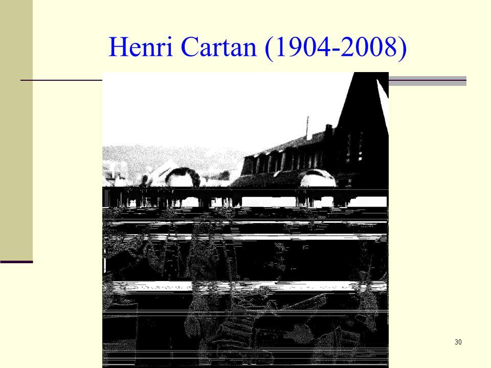 Henri Cartan (1904-2008)