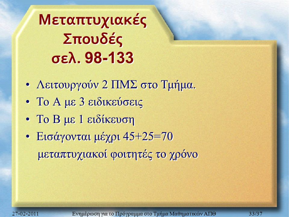 Μεταπτυχιακές Σπουδές σελ. 98-133