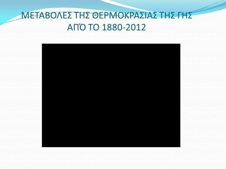 ΜΕΤΑΒΟΛΕΣ ΤΗΣ ΘΕΡΜΟΚΡΑΣΙΑΣ ΤΗΣ ΓΗΣ ΑΠΌ ΤΟ 1880-2012
