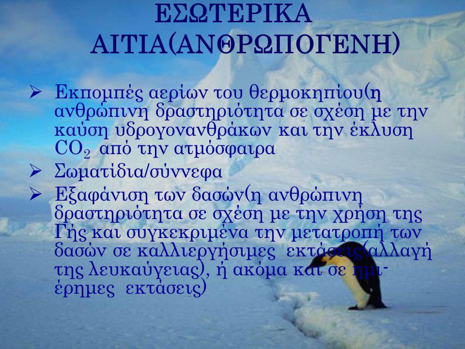 ΕΣΩΤΕΡΙΚΑ ΑΙΤΙΑ(ΑΝΘΡΩΠΟΓΕΝΗ)