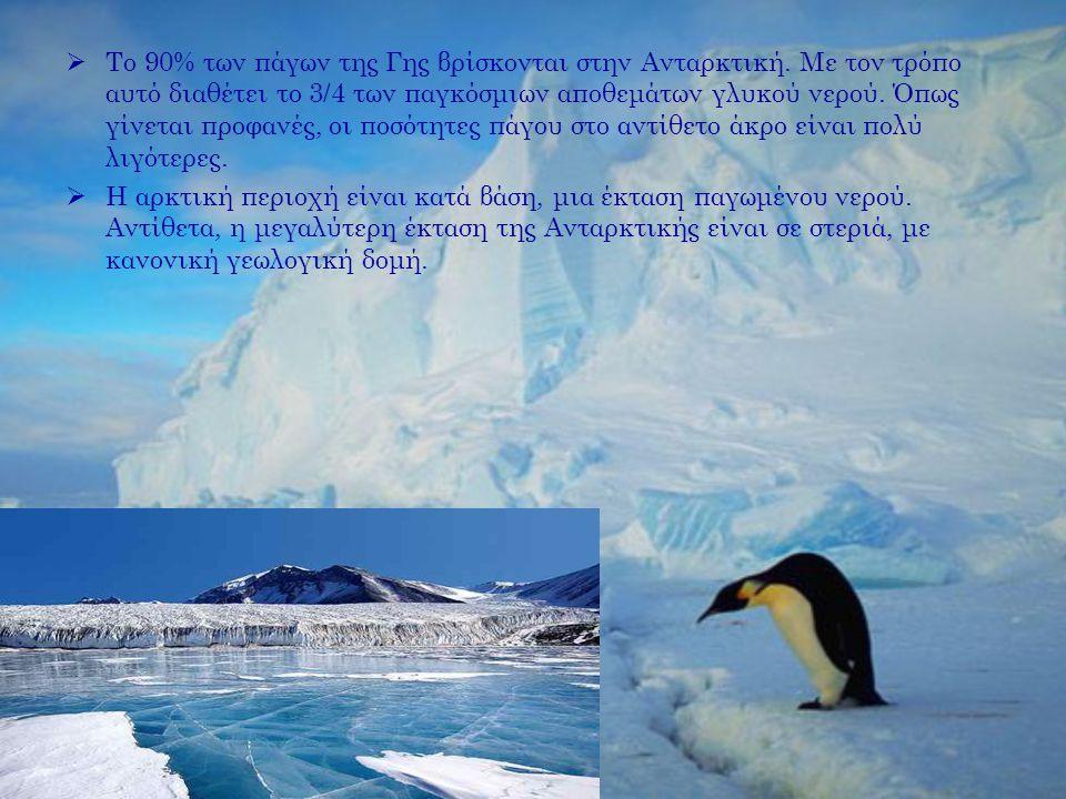 Το 90% των πάγων της Γης βρίσκονται στην Ανταρκτική