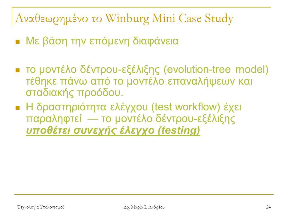 Αναθεωρημένο το Winburg Mini Case Study