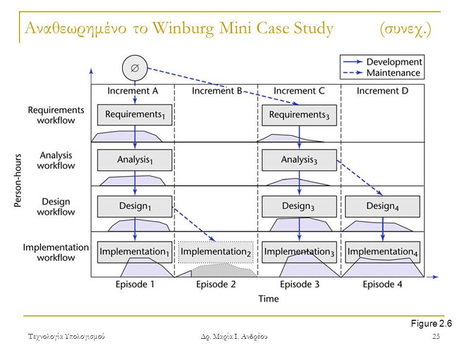 Αναθεωρημένο το Winburg Mini Case Study (συνεχ.)