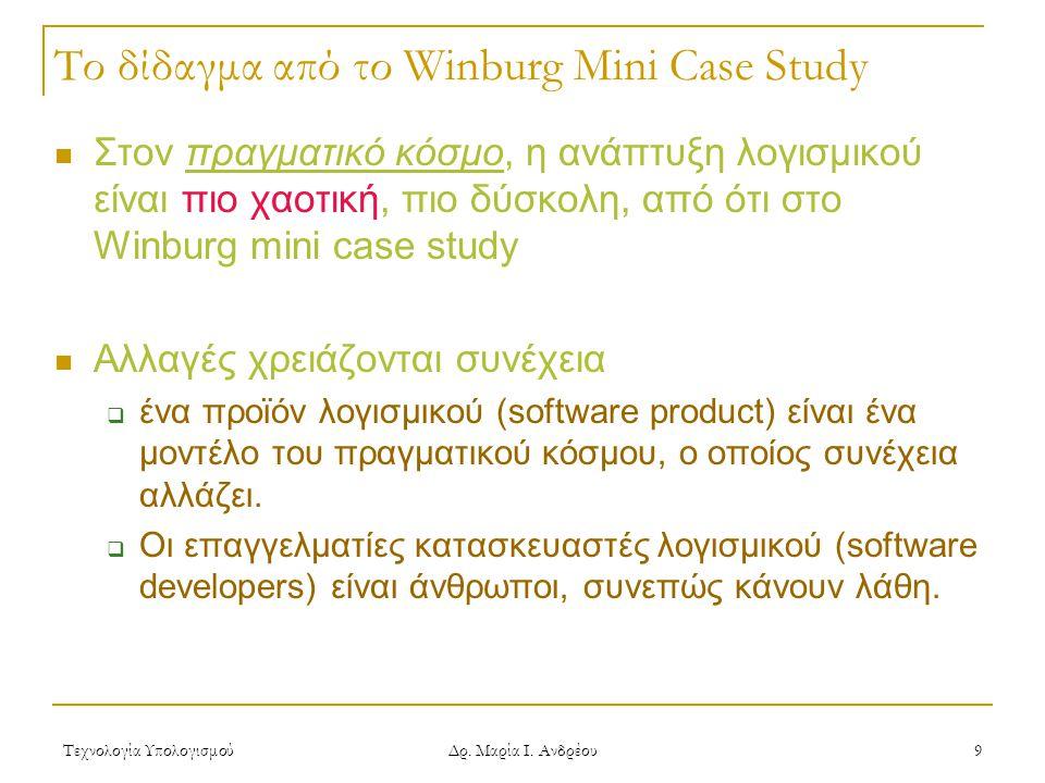 Το δίδαγμα από το Winburg Mini Case Study