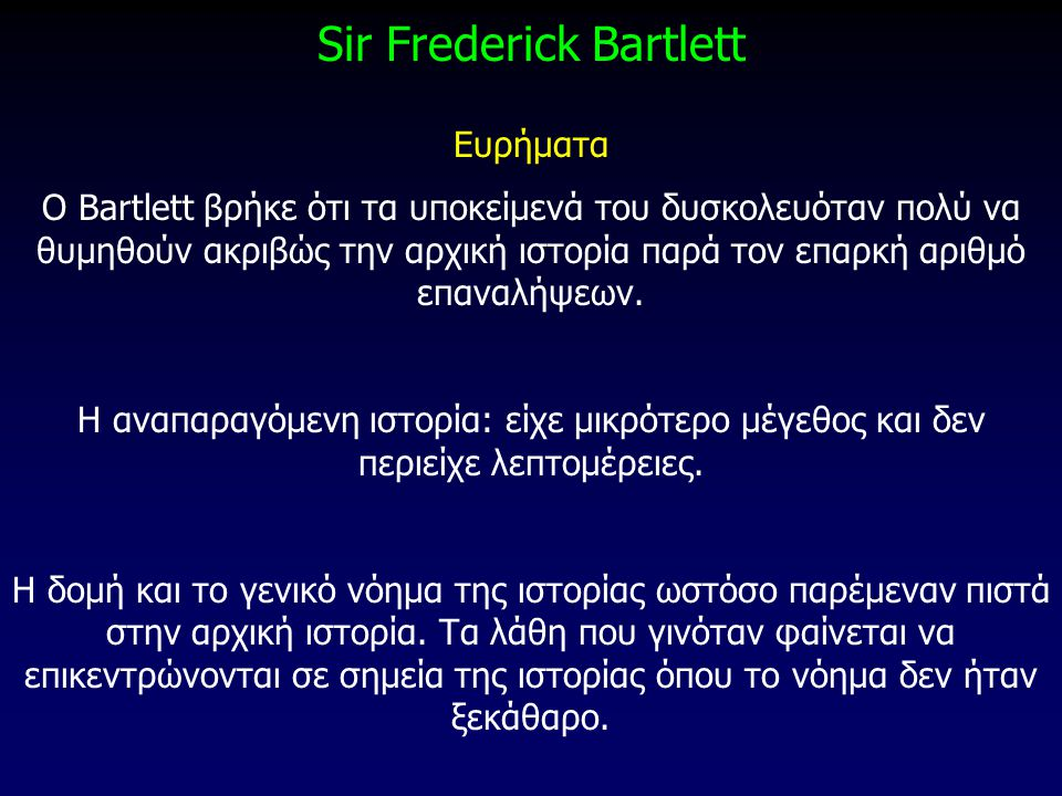 Sir Frederick Bartlett