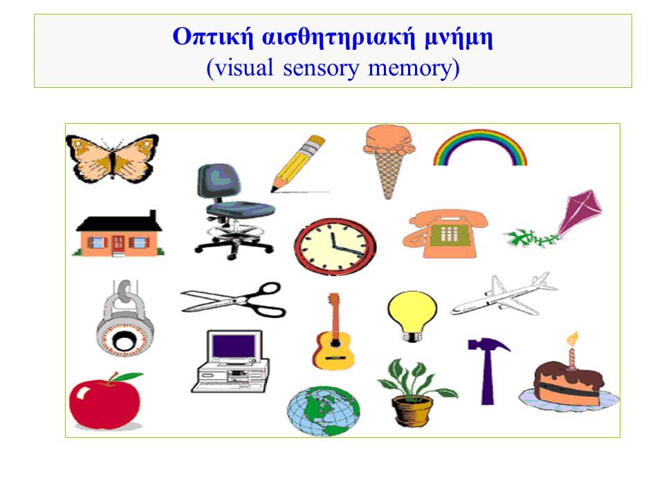 Οπτική αισθητηριακή μνήμη (visual sensory memory)